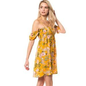 LOVE TREE ! Short Sleeves Floral Print Dress